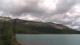 HD209-8-11-13 glacier and mountain and lake pan Stock Video Footage