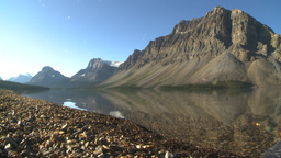 HD2009-8-14-1 Bow lake and mtn sunrise Footage