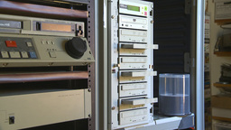 HD2009-8-17-2 ejecting DVD duplicator Stock Video Footage