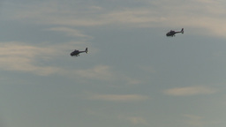 HD2009-8-20-1 police helicopters Stock Video Footage