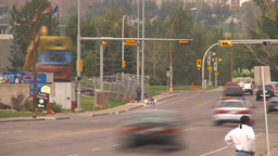 HD2009-8-20-5 traffic people and rings TL Stock Video Footage