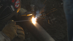 HD2009-8-20-7 gas pipe welding Footage