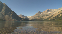 HD2009-8-20-23 Bow lake mtn glacier calm Stock Video Footage
