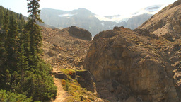 HD2009-8-21-3 steep trail pan glacier to gorge and back Footage