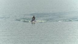 HD2009-8-22RC-1 seadoo on lake Stock Video Footage