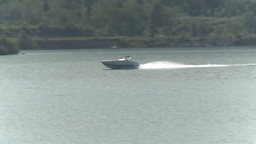 HD2009-8-22RC-3 fast boat on lake Stock Video Footage