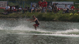 HD2009-8-23-1RC water ski comp Stock Video Footage