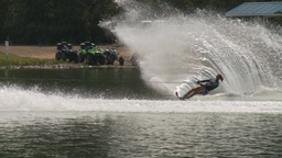 HD2009-8-23-5RC water ski comp female Stock Video Footage