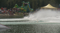 HD2009-8-23-7RC water ski comp female Stock Video Footage