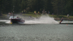 HD2009-8-23-9RC water ski comp wipeout Stock Video Footage