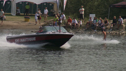 HD2009-8-23-11RC water ski comp good Stock Video Footage