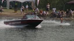 HD2009-8-23-11RC water ski comp good Stock Video Footage