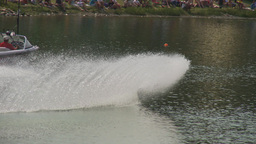 HD2009-8-23-13RC water ski comp good Stock Video Footage