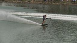 HD2009-8-23-17RC water ski comp good Stock Video Footage