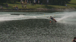 HD2009-8-23-21RC water ski comp good Stock Video Footage