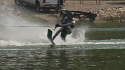 HD2009-8-23-25RC water ski jump comp Stock Video Footage