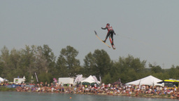 HD2009-8-23-27RC water ski jump comp Stock Video Footage
