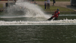 HD2009-8-23-29RC water ski jump comp Stock Video Footage