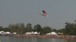 HD2009-8-23-29RC water ski jump comp Stock Video Footage