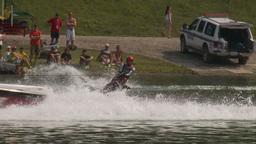 HD2009-8-23-31RC water ski jump comp Stock Video Footage