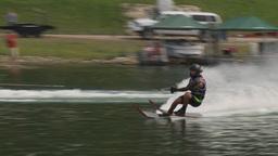 HD2009-8-23-33RC water ski jump comp Stock Video Footage