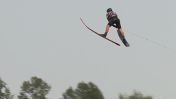 HD2009-8-23-33RC water ski jump comp Stock Video Footage