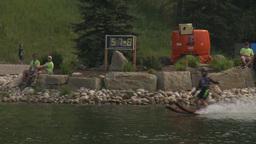 HD2009-8-23-35RC water ski jump comp Stock Video Footage