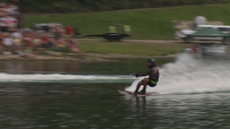 HD2009-8-23-35RC water ski jump comp Stock Video Footage