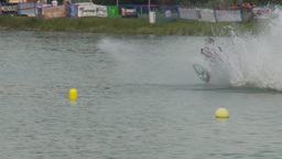 HD2009-8-23-37RC water ski jump comp Stock Video Footage