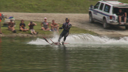 HD2009-8-23-39RC water ski jump comp Stock Video Footage