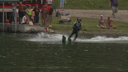 HD2009-8-23-41RC water ski jump comp Stock Video Footage