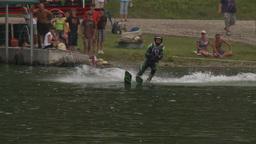 HD2009-8-23-41RC water ski jump comp Stock Video Footage