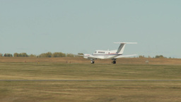 HD2009-8-43-3RC Beech King air takeoff LL Stock Video Footage