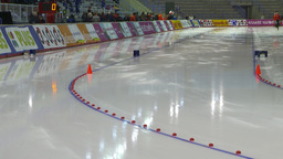 HD2009-12-1-3 Speed skating oval race LL Stock Video Footage