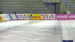 HD2009-12-1-9 Speed skating oval race LL Footage
