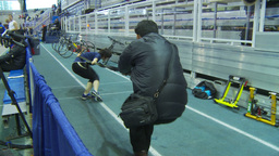 HD2009-12-1-13 Speed sk8 training Stock Video Footage