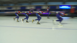 HD2009-12-1-17 Speed sk8 team pursuit Stock Video Footage