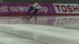 HD2009-12-1-19 Speed skaters practise Stock Video Footage