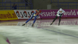 HD2009-12-1-19 Speed skaters practise Footage