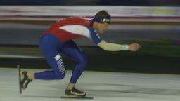 HD2009-12-1-19 Speed skaters practise Stock Video Footage