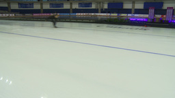 HD2009-12-1-21 Speed skaters practise Stock Video Footage