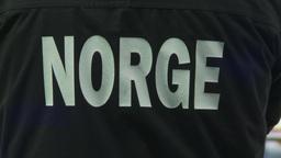 HD2009-12-1-27 Speed skate Norge jacket Stock Video Footage