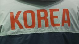 HD2009-12-1-29 Speed skate Korea jacket Stock Video Footage