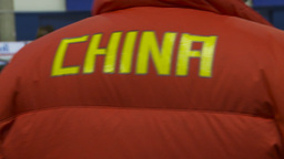 HD2009-12-1-31 Speed skate China jacket Stock Video Footage