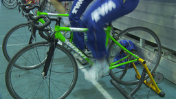 HD2009-12-1-39 stationary bike trg Stock Video Footage
