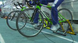 HD2009-12-1-41 stationary bike trg Stock Video Footage