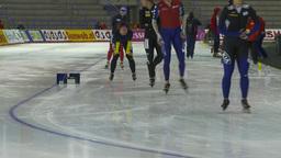 HD2009-12-1-43 Speed skaters practise Stock Video Footage