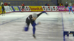 HD2009-12-1-45 Speed skaters practise Footage