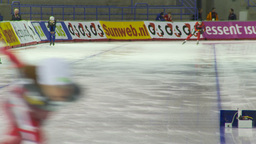 HD2009-12-1-45 Speed skaters practise Stock Video Footage