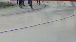 HD2009-12-1-49 Speed skaters practise lower Stock Video Footage